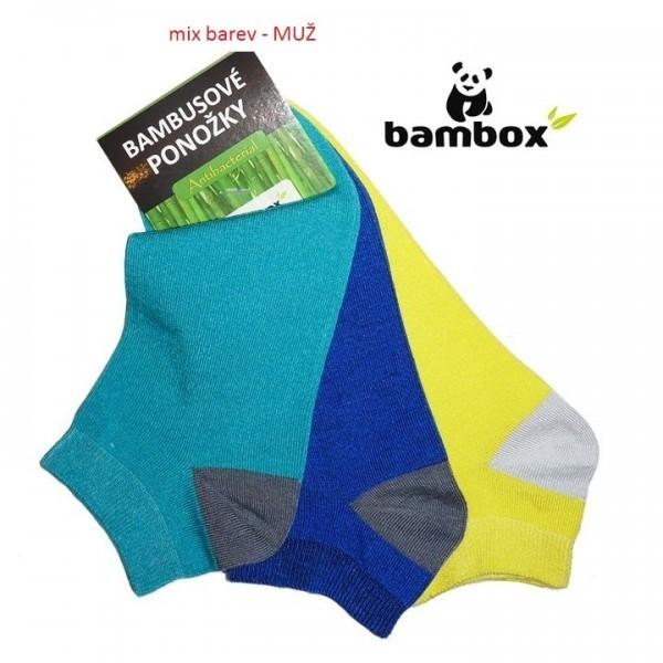 35bb56c2a4b SNEAKER DOUBLE nízké farebné bambusové ponožky BAMBOX - Ponožkožrout.sk
